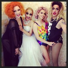 Jinkx Monsoon, Bianca Del Rio, Adore Delano and Courtney Act