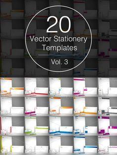 Vol.3 - 20 Stationery Templates