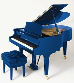 Baldwin Beale Street Blue Piano. My boy started piano and would have loved a blue piano.  Of course Little Miss C would love a pink one.  However, we have my grandmother's, and I just can't get rid of it.