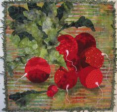 Barbara Strobel Lardon Art quilts: Nature...technique..radishes