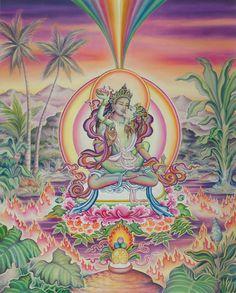 Padmasambhava and Mandarava  by Marianna Rydvald