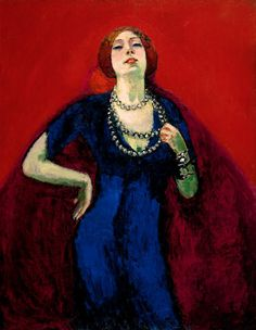 The Blue Gown Painting by Kees van Dongen
