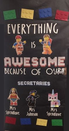 Teacher Appreciation Door Idea. Could use for secretaries, janitor, librarian...or for a teacher