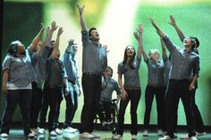 """GLEE CAST does somebody to love <-- this is actually when they were performing """"One"""" by U2 :)"""