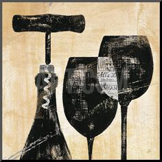 Wine Selection II Mounted Print by Daphne Brissonnet at Art.co.uk