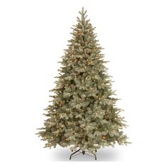 National Tree Company 7.5 ft. Feel Real Frost Arctic Full Pre-lit Christmas Tree | from hayneedle.com