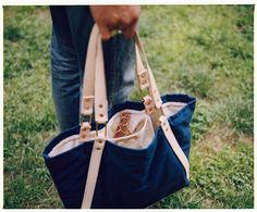 Another shot from Joshu + Vela. #handmade #leather #bag