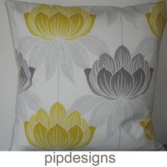 20x20 Yellow and Grey Pillow Cover NEW 20 Decorative by pipdesigns, $16.00