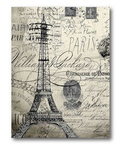 Take a look at this Black & White Vintage Paris Wall Art by COURTSIDE MARKET on #zulily today!