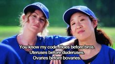Ovaries before bovaries!