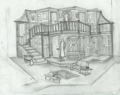 Noises Off - Playhouse Merced in CA - Brian J Proball - Scenic Design
