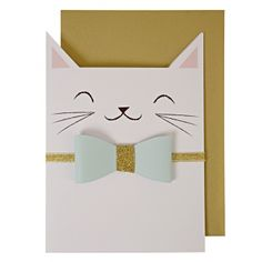 Carte Chat                                                                                                                                                                                 Plus Paper Cards, Diy Cards, Craft Cards, Cute Cards, Cat Birthday Cards, Card Ideas Birthday, Scrapbook Birthday Cards, Children Birthday Cards, Scrapbook Cards