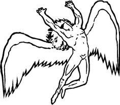 Led Zeppelin Angel Logo Led zeppelin angel logo led