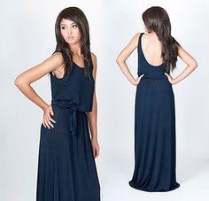 Drape-y low-back dress from Ebay