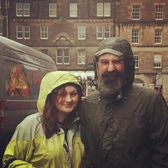 With my daughter on a recent trip to Scotland.  #beardbrandDADS
