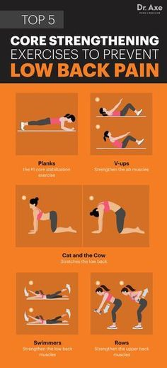 Core strengthening exercises to prevent low back pain - Dr. Axe  http://www.draxe.com #health #holistic #natural