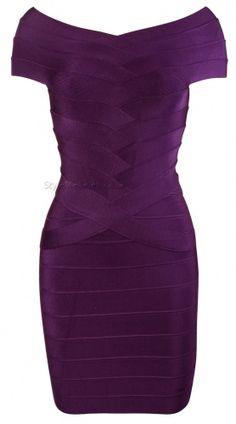 'Lelo' Off The Shoulder Red Zip Bandage Dress - StyleMeCeleb