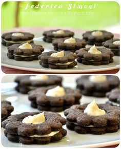 La cucina di Federica: Biscotti con crema al philadelphia
