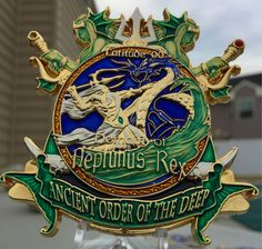 """Chief Petty Officer (CPO) Challenge coin """"SHELLBACK!"""""""