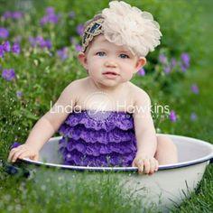 6 month baby picture ideas | Garden Baby | 6 Month Portrait Ideas