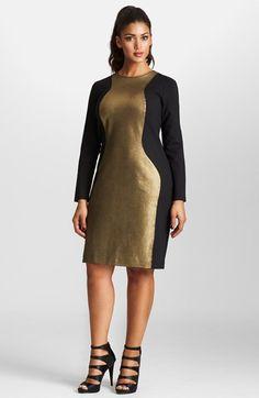 Mynt 1792 Metallic Colorblock Ponte Dress
