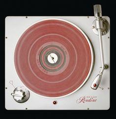 Pink vinyl vintage record player awe yea