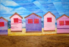 Quilt Routes: Beach Huts Mini Art Quilt Tutorial. How about a beach hut challenge? Just small--maybe 10x12.