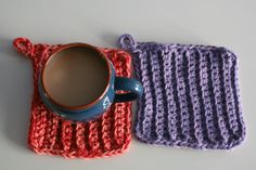 crochet pot holders double thick