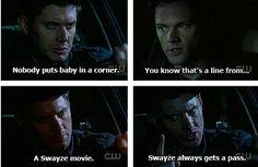 Swayze always gets a pass