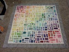 Gradated Mod Mosaic Quilt Top