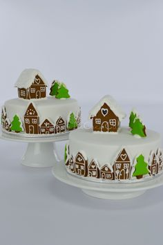 Gingerbread Village Christmas cake by Blossom Tree Cake Co Harrogate North Yorkshire.jpg