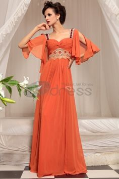 Abiti in Magazzino-Arancione carino vestito da sera nuziale sexy star