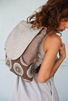 Canvas Laptop backpack backpacks for girls and women by Badimyon