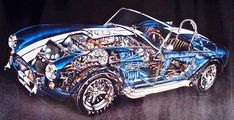 Original 65 Ford Cobra Cutaway Illustration Painting By David Kimble - http://www.busaccagallery.com/catalog.php?catid=202&itemid=6051&page=1