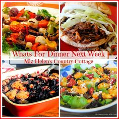 Whats For Dinner Next Week 8-13-17