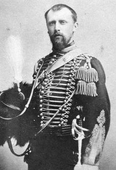 kroonprins Willem in huzarenkledij