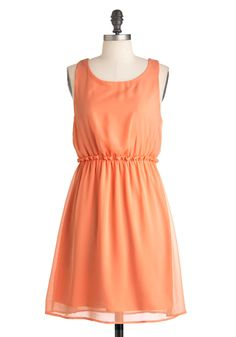 Peach Tea Dress Soft but nice presence with this dress Dressy Dresses, Unique Dresses, Cute Dresses, Peach Color Dress, Orange Dress, Retro Vintage Dresses, Vintage Outfits, Vintage Clothing, Orange Bridesmaid Dresses