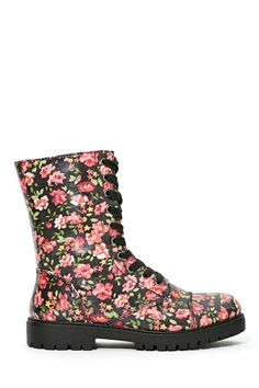 Madden Girl Rexxx Floral Boot   Shop Shoes at Nasty Gal