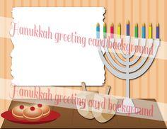 Hanukkah Instant Download cliparts background, jewish holiday, religion symbols, menorah, dreidel, doughnut by MyPrintablesStudio on Etsy