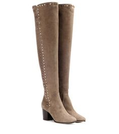 402d4107473 Beige veloursleather Overknee with rivets by Jimmy Choo. Shop these Boots  by clicking on the