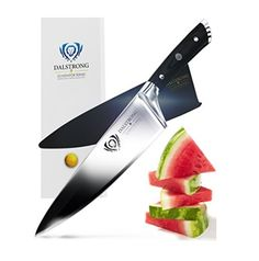 The DALSTRONG Chef Knife – Gladiator Series – is an outstanding craftsmanship of incredibly razor sharp high carbon German Steel. #bestkitchenknife