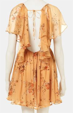 'Autumn Meadow' Print Dress --- I love the flowy-ness and the print of the dress!