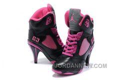 http://www.jordannew.com/womens-nike-air-jordan-5-high-heels-shoes-black-pink-top-deals.html WOMEN'S NIKE AIR JORDAN 5 HIGH HEELS SHOES BLACK/PINK TOP DEALS Only 91.70€ , Free Shipping!