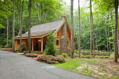 Imagine the feeling of being tucked away in 30 acres of private and secluded woods.  visit www.blueskycabinrentals.com