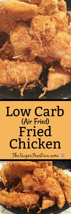 Low Carb Air Fried Chicken #lowcarb #fried #chicken #chickenrecipe #chicken #dinner