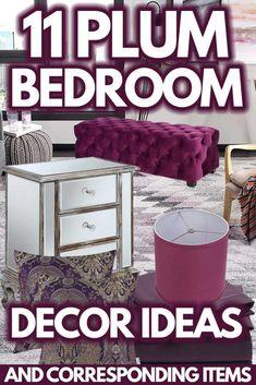 11 Plum Bedroom Decor Ideas [And Corresponding Items]. Article by HomeDecorBliss.com #HomeDecorBliss #HDB #home #decor