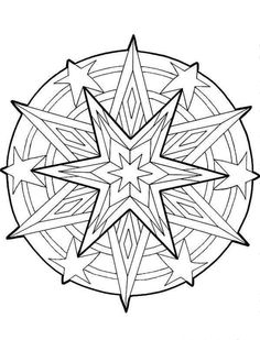 coloring page Mandala Christmas on Kids-n-Fun. Coloring pages of Mandala Christmas on Kids-n-Fun. More than coloring pages. At Kids-n-Fun you will always find the nicest coloring pages first! Geometric Coloring Pages, Pattern Coloring Pages, Cool Coloring Pages, Mandala Coloring Pages, Christmas Coloring Pages, Printable Coloring Pages, Free Coloring, Adult Coloring Pages, Coloring Pages For Kids