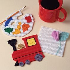 Winning Coasters! Plastic Canvas Patterns ePattern