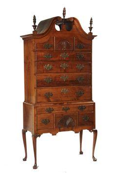 Period Queen Anne Dresser in Maple #furniture