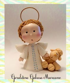 angel  porcelana fria polymer clay